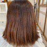 ヘアカラーの色が抜けた後のパサパサな髪をハナヘナ染めすると?
