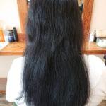 梅雨時期に膨張しやすい癖毛にハナヘナを塗布すると?before afterビフォー・アフター